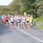 James O'Driscoll, John Collins and Stephen O'Mahony in action at Route 2 Crook 5 mile road race